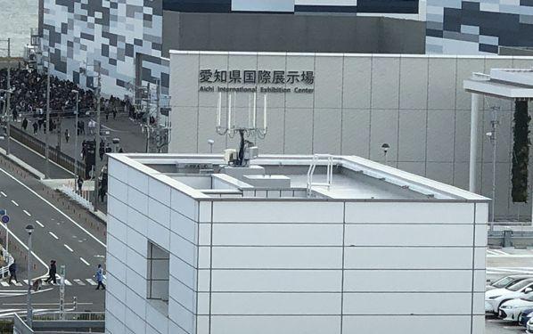Aichi Sky Expo 全握の待機列が少し見えます