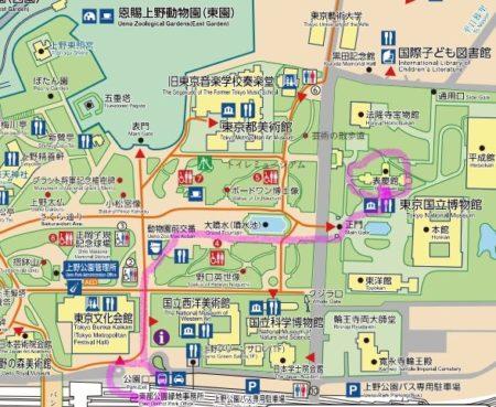 東京国立博物館・地図マーカー